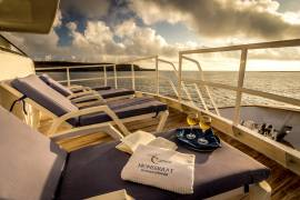 Upper Deck Sun Area Monserrat Galapagos Cruises